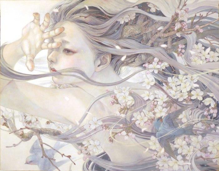 Весеннее настроение в картинах Михо Хирано (Miho Hirano).