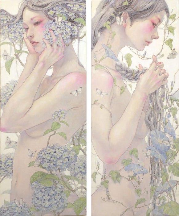 Утончённые образы девушек в работах Михо Хирано (Miho Hirano).