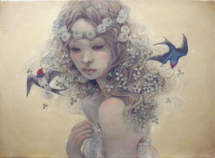 Душевные картины Михо Хирано (Miho Hirano).