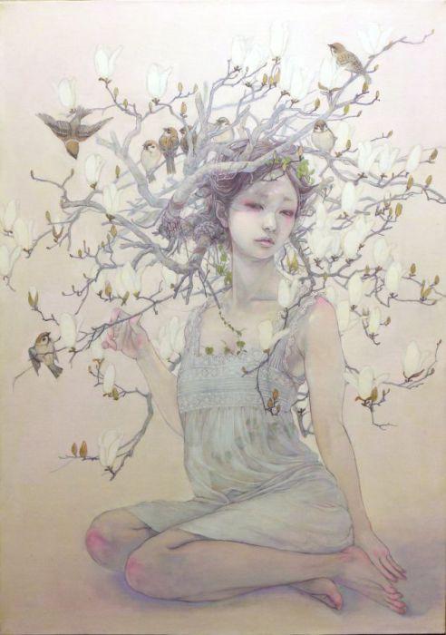 Девушка-весна. Автор работ: Михо Хирано (Miho Hirano).