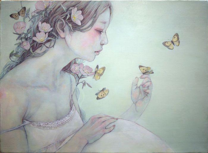 Картины с душой. Автор работ: Михо Хирано (Miho Hirano).