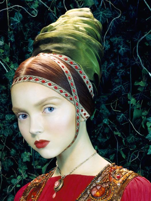 Картинный образ. Модель Лили Коул для Vogue Италия. Автор работ: фэшн-фотограф Майлз Олдридж (Miles Aldridge).