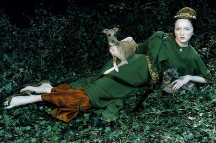 Здесь оживают сказки. Модель Лили Коул для Vogue Италия. Автор работ: фэшн-фотограф Майлз Олдридж (Miles Aldridge).