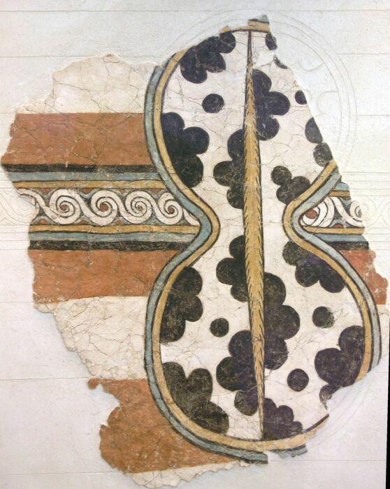 Фреска с микенским щитом, Микены, Марк Картрайт, 2017 год. \ Фото: es.wikipedia.org.