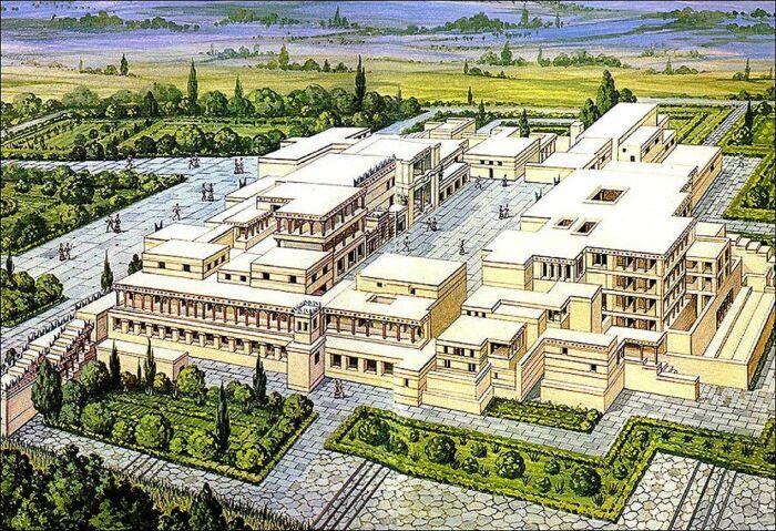 Возможная реконструкция минойского лабиринта. \ Фото: wordpress.com.
