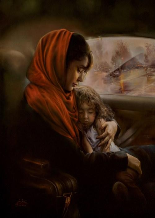 Радость материнства. Автор: Mitra Shadfar.