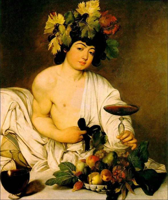 Картина Вакх, Микеланджело Караваджо.