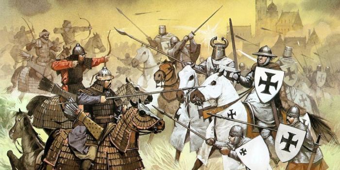 Бой монгольской конницы с рыцарями. \ Фото: livejournal.com.