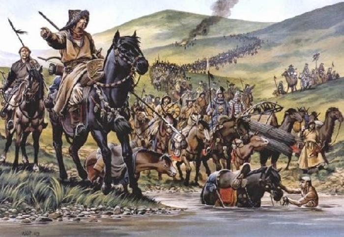 Монгольское войско в походе. \ Фото: histrf.ru.