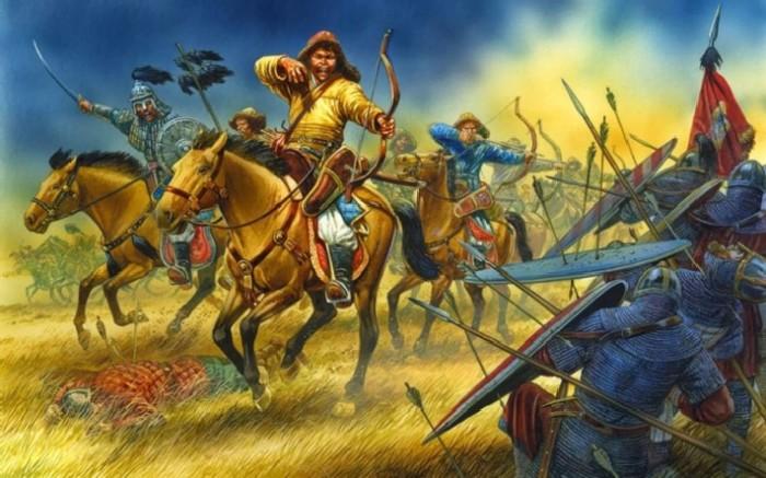 Тактика монгольских всадников – не вступая в бой, осыпать врага стрелами. \ Фото: google.ru.