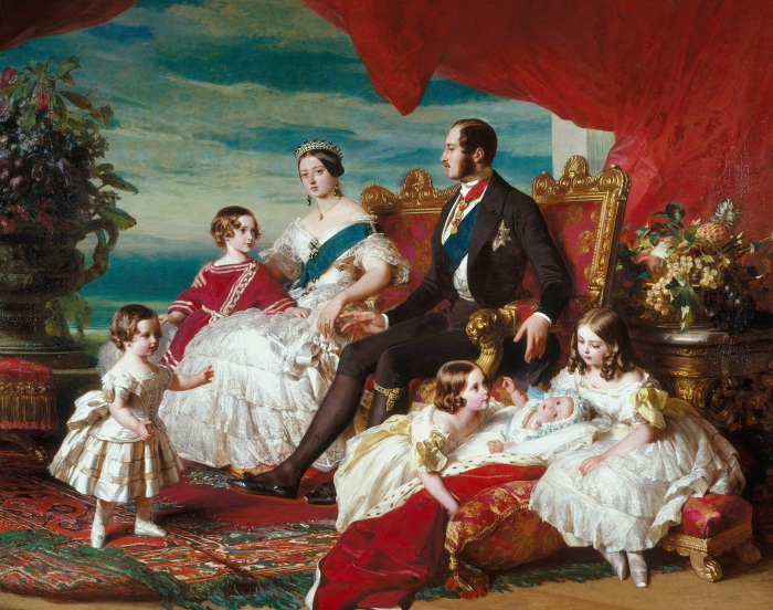 Франц Ксавер Винтерхальтер - Портрет королевской семьи в 1846 году: королева Виктория и принц Альберт со своими детьми. \ Фото: wikipedia.org.