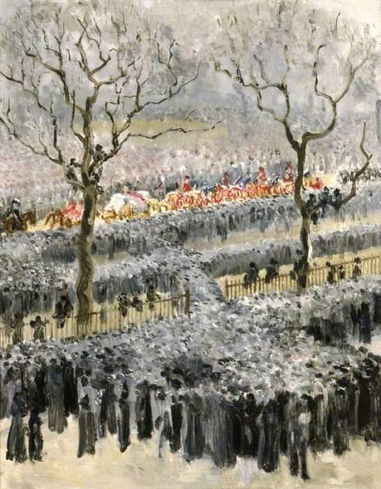 Мэри Эдит Дарем: Похоронная процессия королевы Виктории. \ Фото: artuk.org.