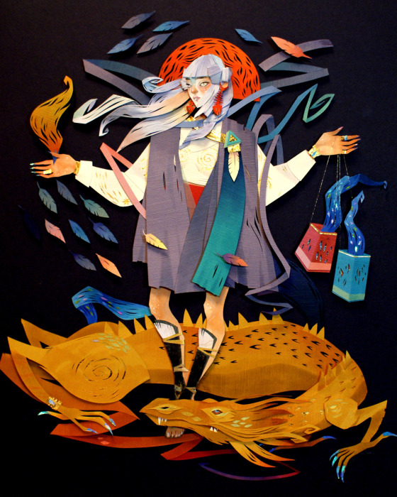 Яркие бумажные иллюстрации Морганы Уоллес (Morgana Wallace).