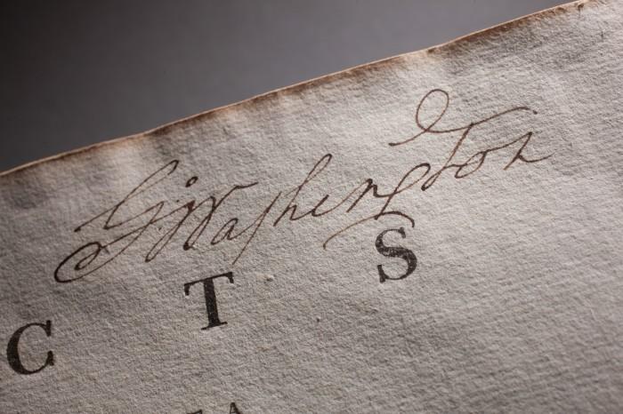 Автограф Джорджа Вашингтона. \ Фото: mountvernon.org.