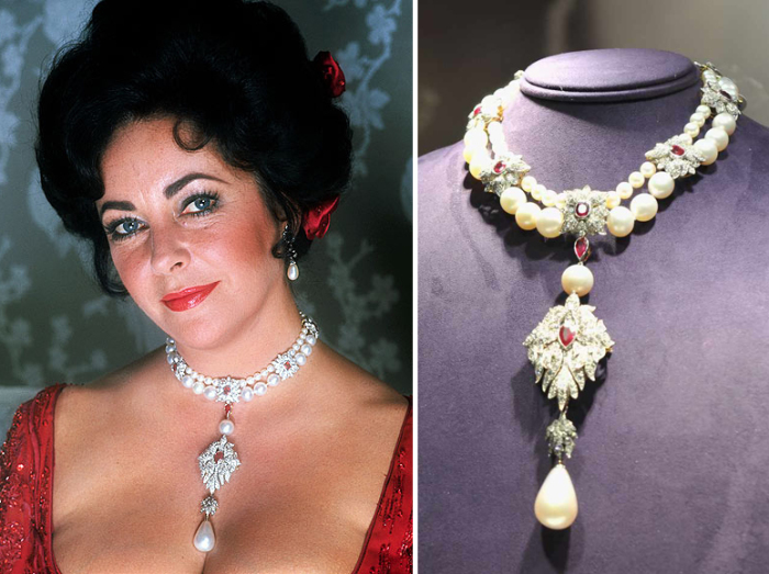 Элизабет Тейлор и легендарное украшение La Peregrina (Wanderer).