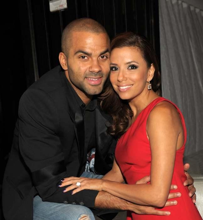 Ева Лонгория и Тони Паркер. \ Фото: me.popsugar.com.