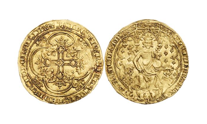 Флорин Эдуарда III, 1344 год. \ Фото: goldbergcoins.com.