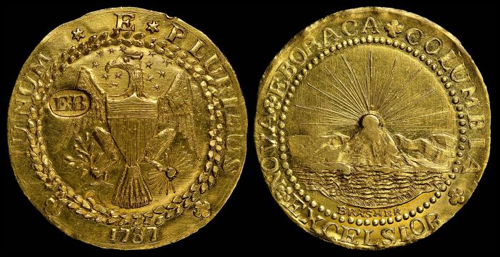 Золотой дублон Брашера, 1787 год. \ Фото: google.ru.