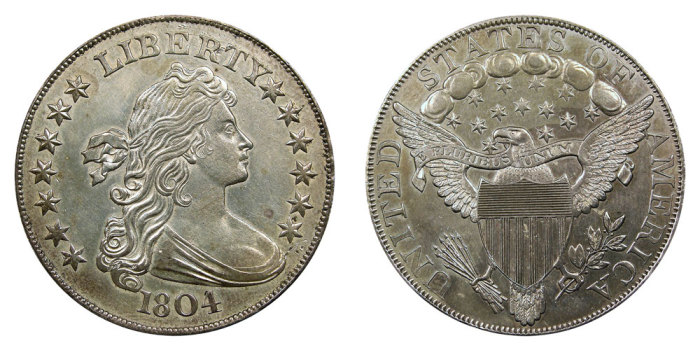 Серебряный доллар, 1830 год. \ Фото: usacoinbook.com.