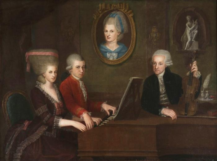 Моцарт семейный портрет, Иоганн Непомук делла Кроче. \ Фото: ru.m.wikipedia.org.