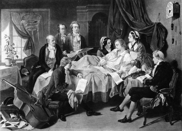 Моцарт на смертном одре, 1971 год. \ Фото: biography.com.