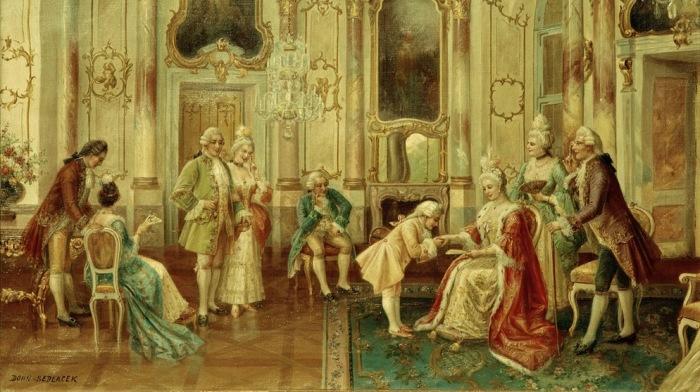 Моцарт у императрицы. \ Фото: br-klassik.de.