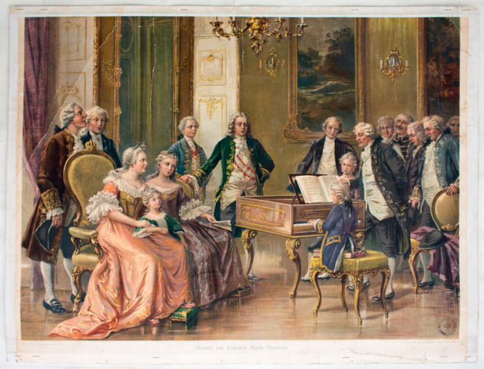 Королева Мария Терезия и Моцарт. \ Фото: google.com.
