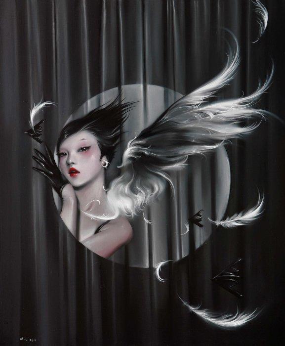 Соблазнительные азиатки на сюрреалистических картинах китайского художника