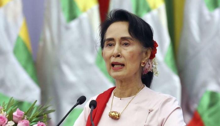 Аунг Сан Су Чжи - лауреат Нобелевской премии мира, де-факто лидер Бирмы. | Фото: golos-ameriki.ru.