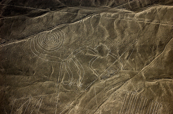 Загадочные линии Наска. \ Фото: megalithic.co.uk.