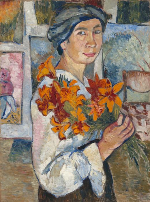 Автопортрет с желтыми лилиями. / Фото: wikimedia.org.