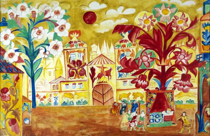 Золотой петушок, 1914 год, Наталья Гончарова. / Фото: livejournal.com.