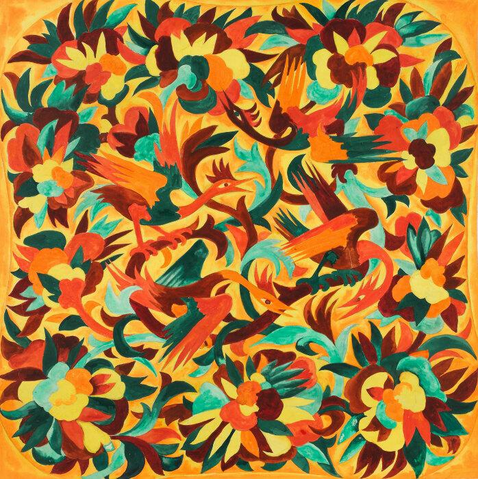 Птицы и цветы, Наталья Гончарова. / Фото: fadmagazine.com.