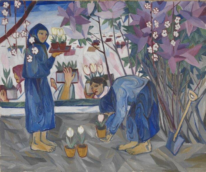 Садоводство, 1908 год, Наталья Гончарова. / Фото: twitter.com.