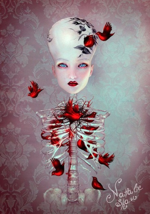 Дама с разбитым сердцем. Автор работ: Натали Шау (Natalie Shau).