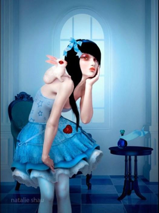 Алиса и белый кролик. Автор работ: Натали Шау (Natalie Shau).