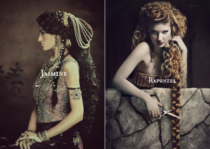 Если бы диснеевских принцесс снимали модные фотографы. Автор: Нэфели (Nefeli).