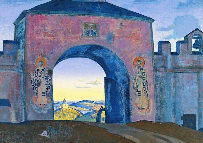 И открываем врата, Николай Рерих, 1922 год. \ pinterest.de.