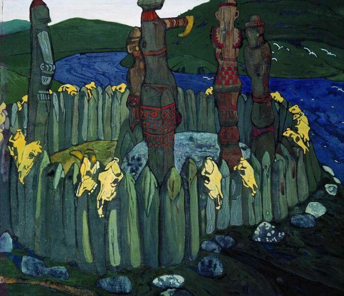 Идолы, Николай Рерих, 1901 год. \ Фото: ru.wikipedia.org.