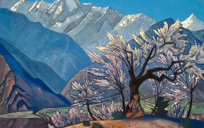 Кришна, или Весна в Кулу, Николай Рерих, 1929 год. \ Фото: reddit.com.