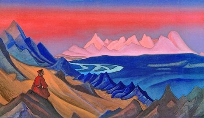 Тангла. Песня о Шамбале, Николай Рерих, 1943 год. \ Фото: twitter.com.