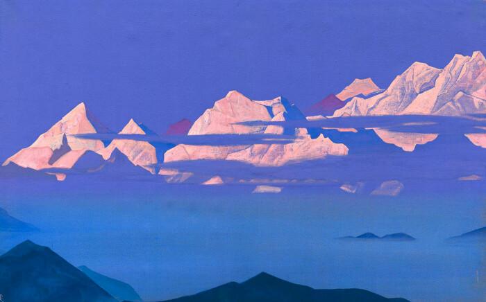 Канченджанга, или Пять сокровищ Высокого снега, Николай Рерих, 1944 год. \ Фото: facebook.com.