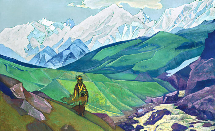 Эн-но Гёдзя - друг путешественников, Николай Рерих, 1925 год. \ Фото: google.com.