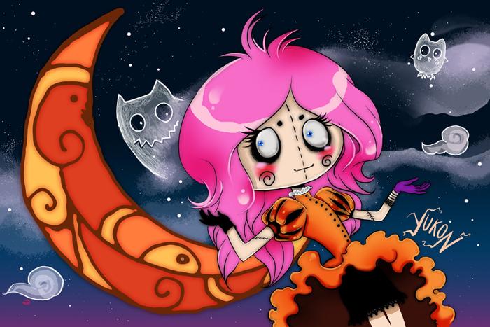 Хэллоуин на Луне. Яркие работы Николы Робин (Nicola Robin).