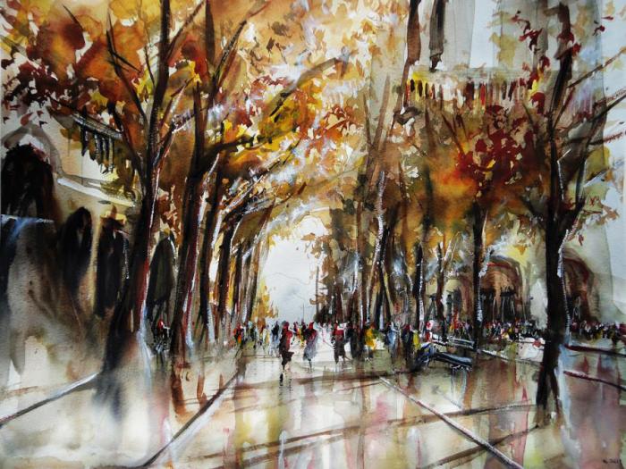 Осень в Париже. Автор: Nicolas Jolly.