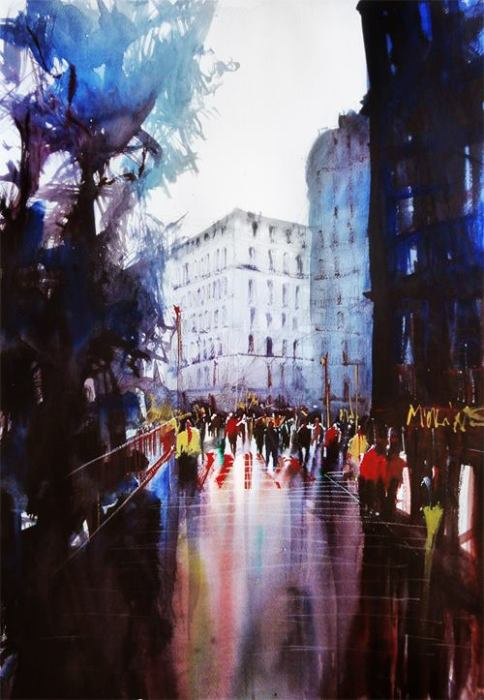 Атмосферный город влюблённых. Автор: Nicolas Jolly.