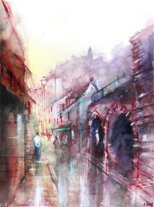 Тени дождя. Автор: Nicolas Jolly.