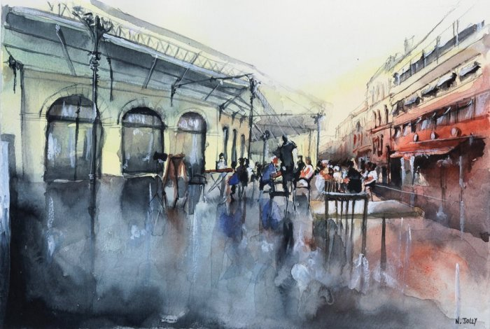 Уличные кафе. Автор: Nicolas Jolly.