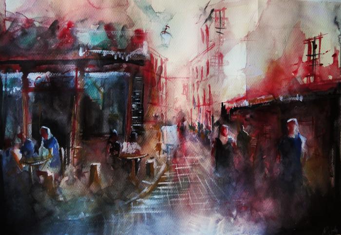Романтическая атмосфера на улицах Парижа. Автор: Nicolas Jolly.