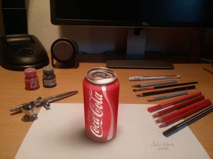 Сербский художник-самоучка создаёт реалистичные трёхмерные рисунки